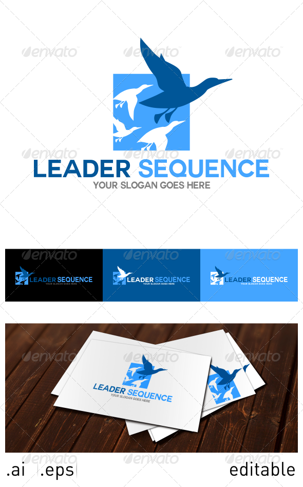 Leader Sequence Logo Template - Animals Logo Templates