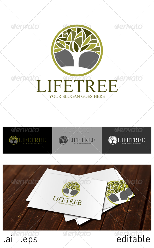 Life Tree Logo Template - Nature Logo Templates