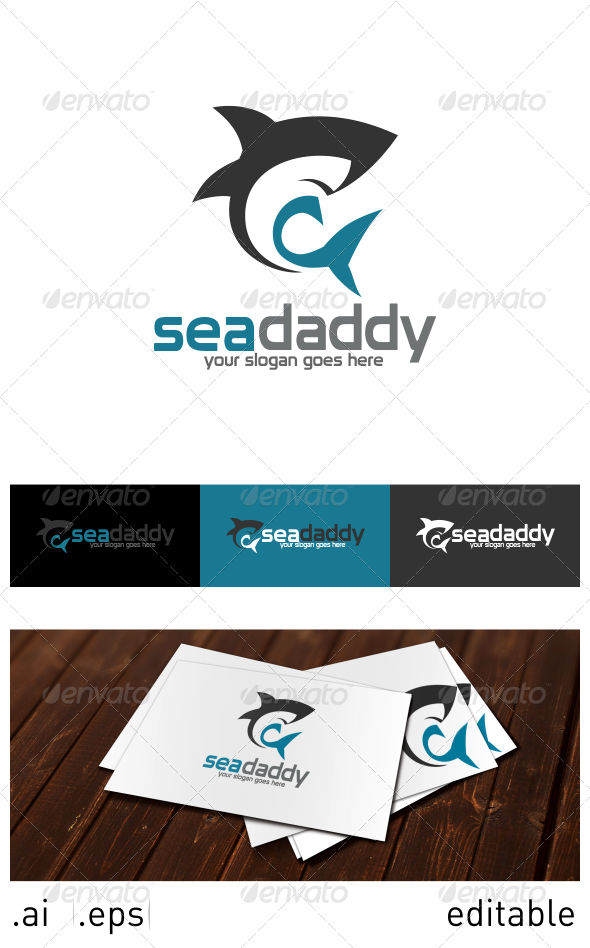 Sea Daddy Logo Template - Animals Logo Templates