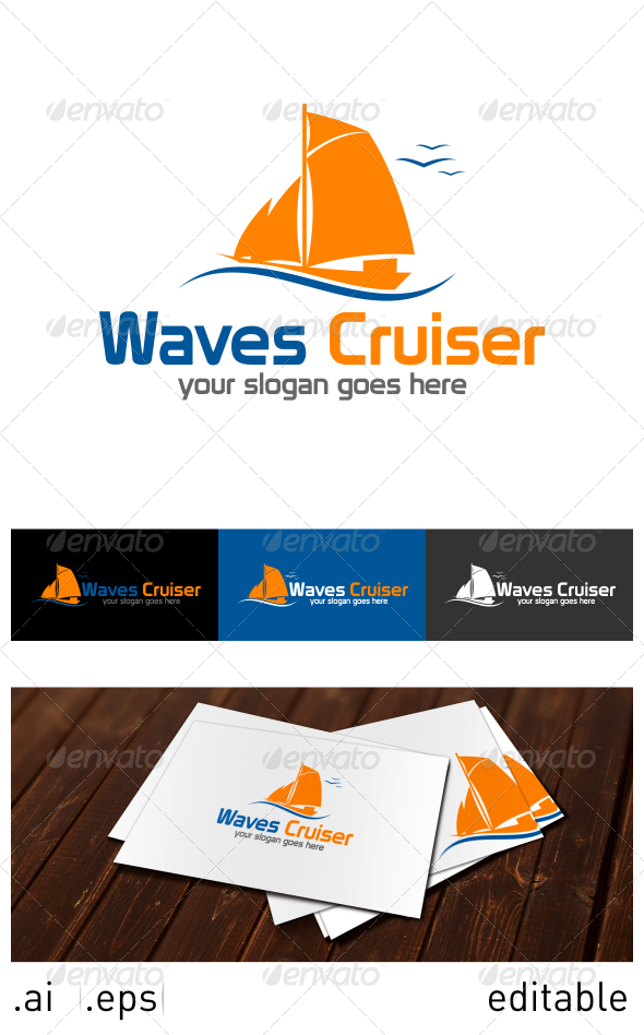 Waves Cruiser Logo Template - Objects Logo Templates