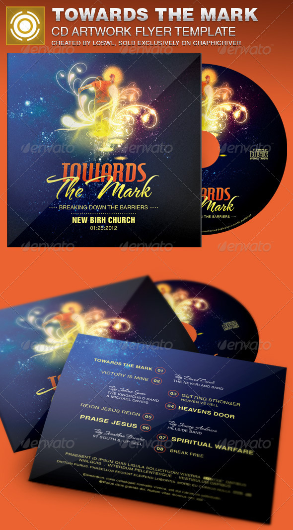 Towards the Mark CD Artwork Template - CD & DVD Artwork Print Templates