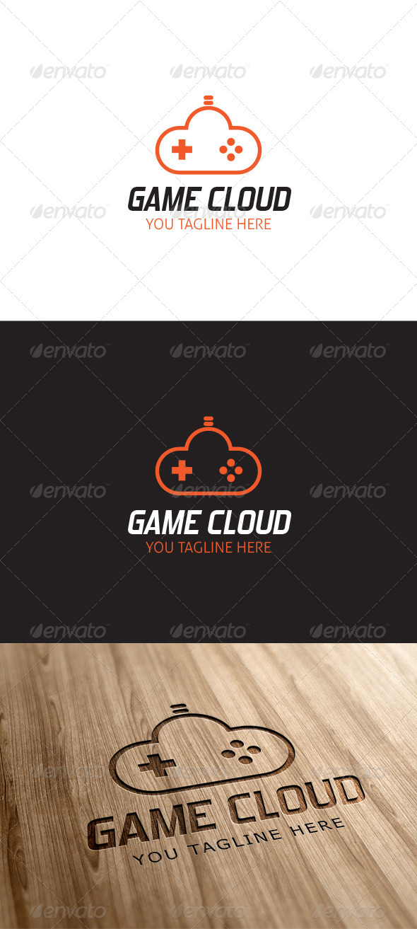 Game Cloud Logo Template - Vector Abstract
