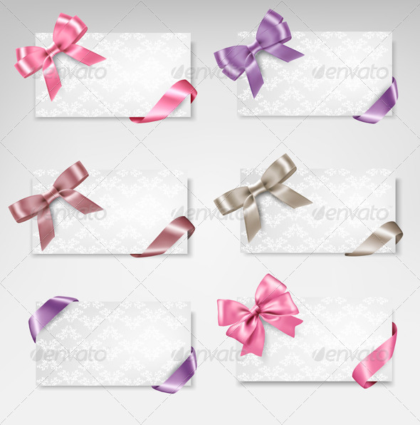 Cards with Bows - Seasons/Holidays Conceptual
