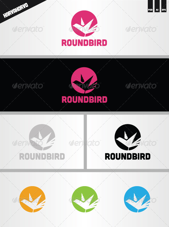 Roundbird Logo - Animals Logo Templates