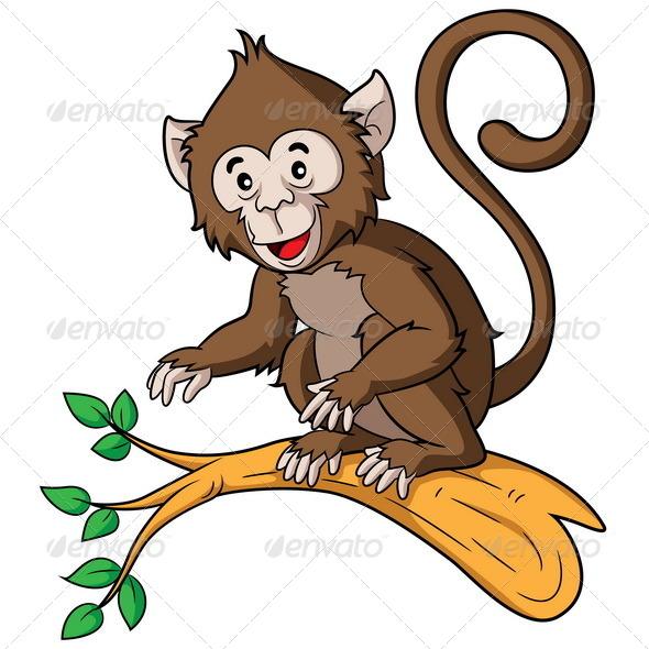 Monkey Cartoon - Animals Characters