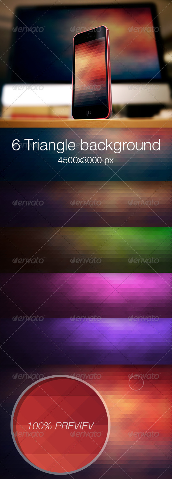 Triangle colored background vol.1 - Abstract Backgrounds