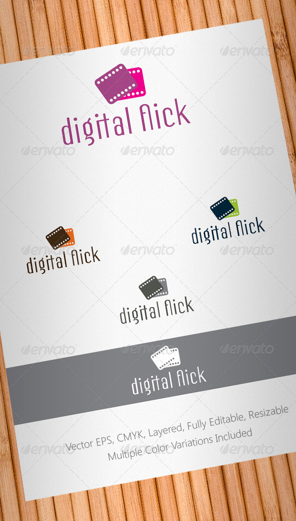 Digital Flick Logo Template - Objects Logo Templates