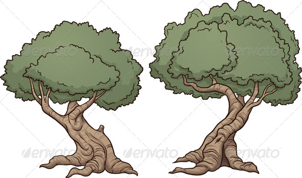 cartoon trees by memoangeles graphicriver rh graphicriver net cartoon trees rocks and bushes - low poly vegetation pack cartoon trees with branches