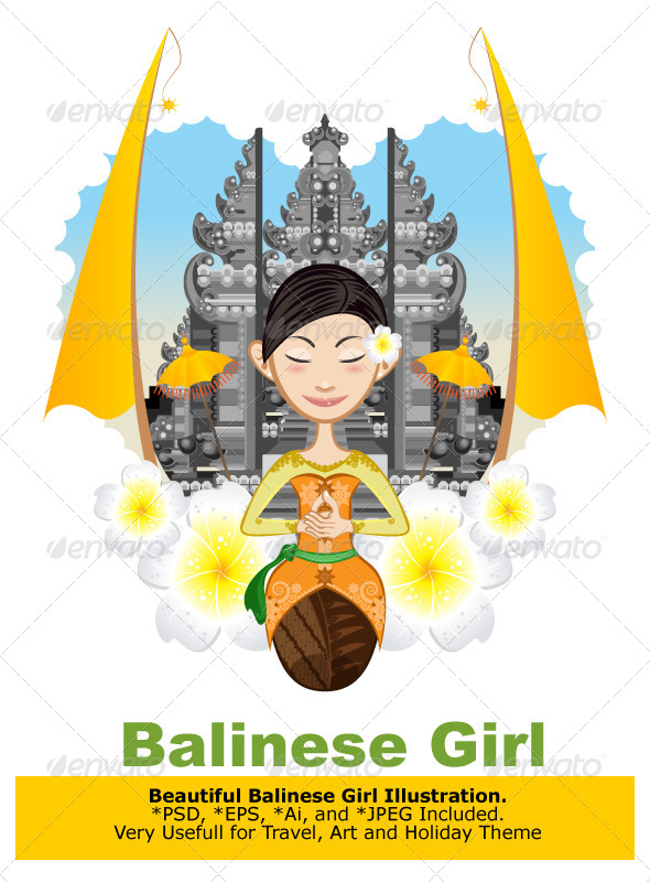 Balinese Girl - Travel Conceptual