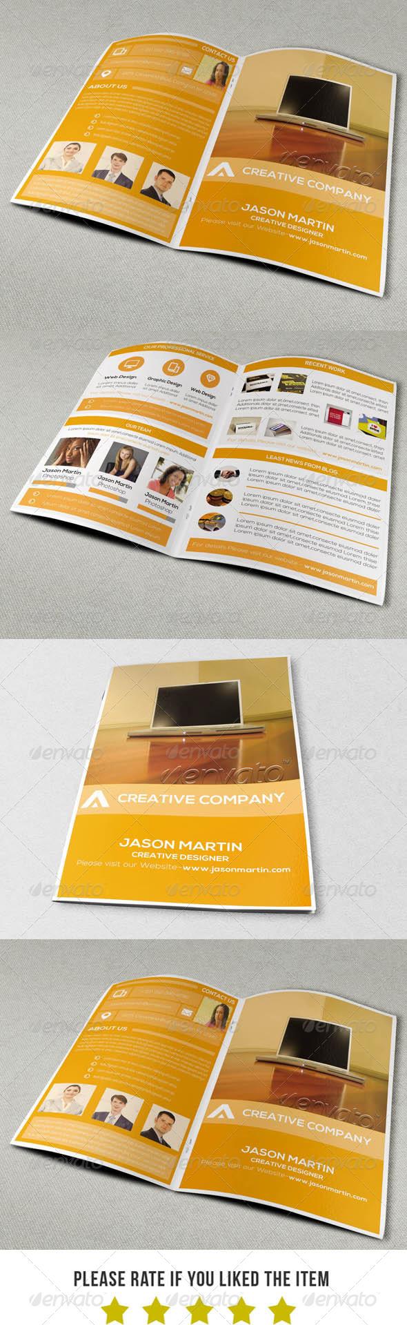 Modern Portfolio Brochure Template V3 - Portfolio Brochures