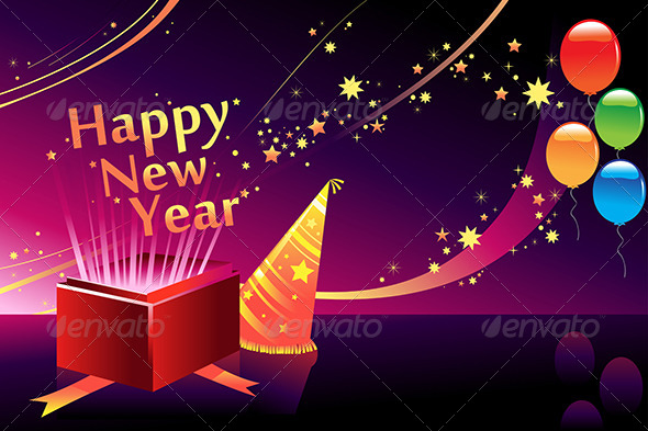 New Year Background - Backgrounds Decorative
