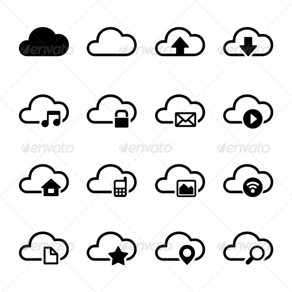 Cloud Storage Icons Set - Software Icons