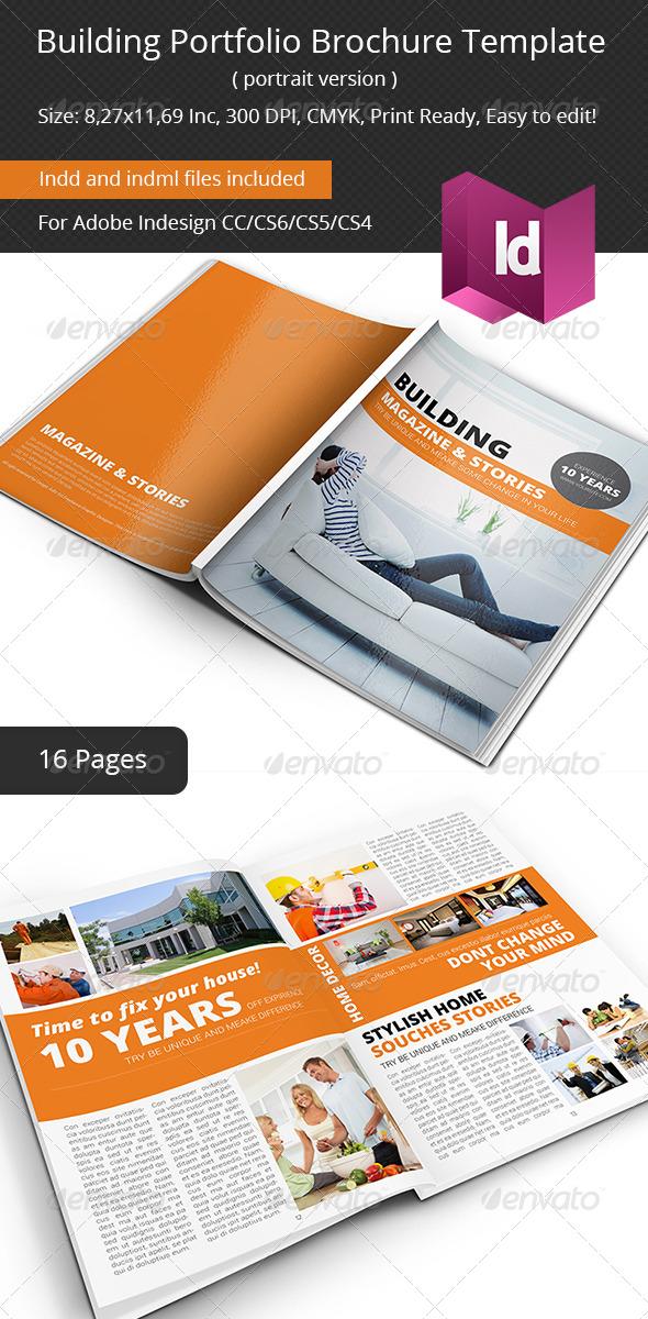 Building Portfolio Brochure Template - Portfolio Brochures
