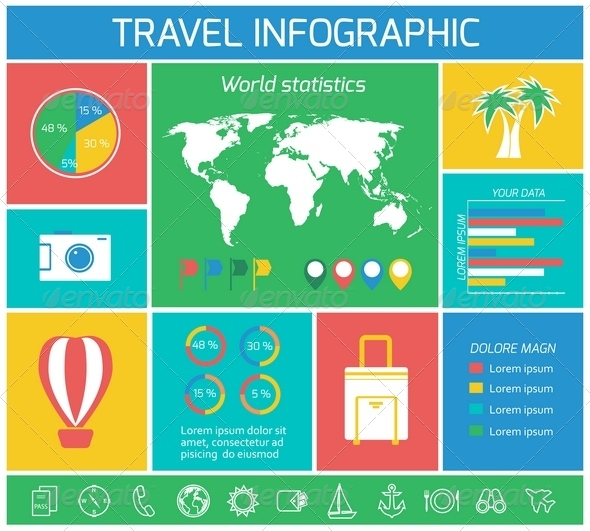 Vacations Travel Infographics Elements - Infographics
