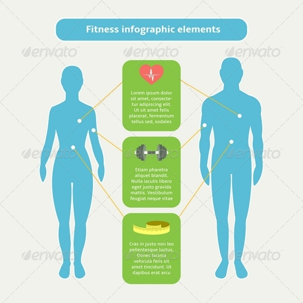 Infographic Elements for Fitness and Sports - Infographics