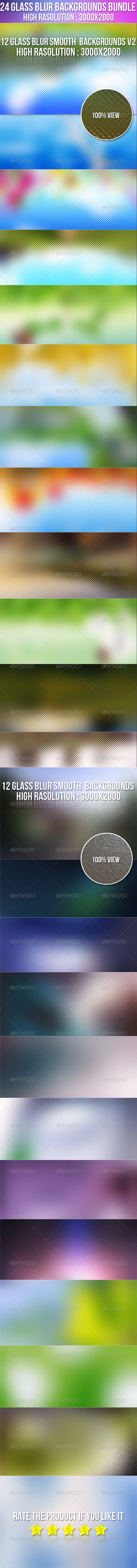 24 Glass Smooth Blur Background Bundle - Abstract Backgrounds