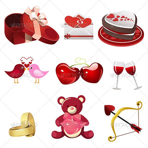 Valentine Icons - Valentines Seasons/Holidays