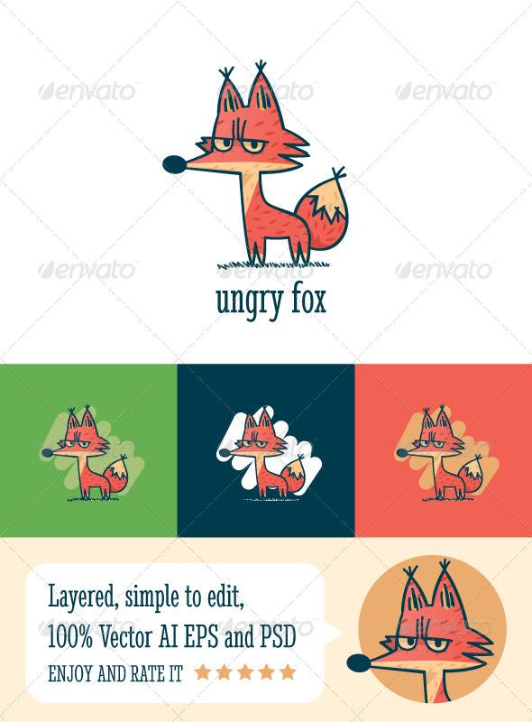 Ungry Fox - Animals Logo Templates