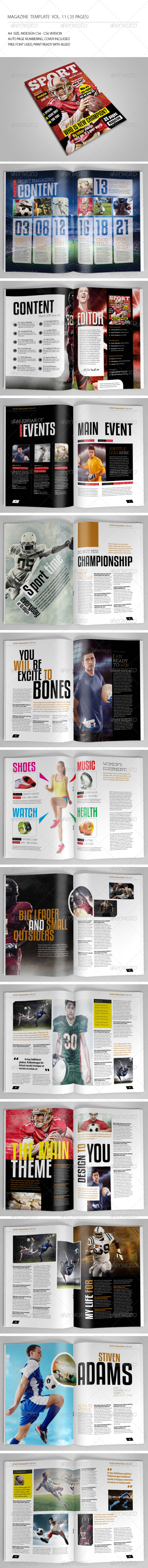 25 Pages Sport Magazine Vol11 - Magazines Print Templates