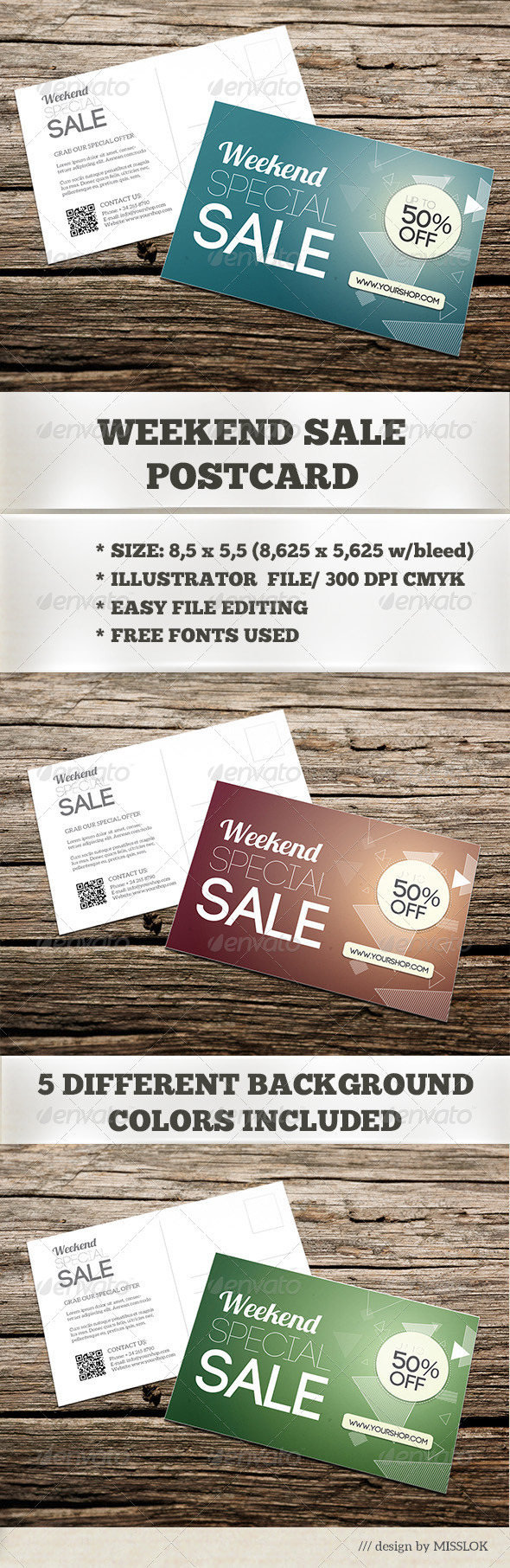 Weekend Sale Postcard/Mailer - Commerce Flyers