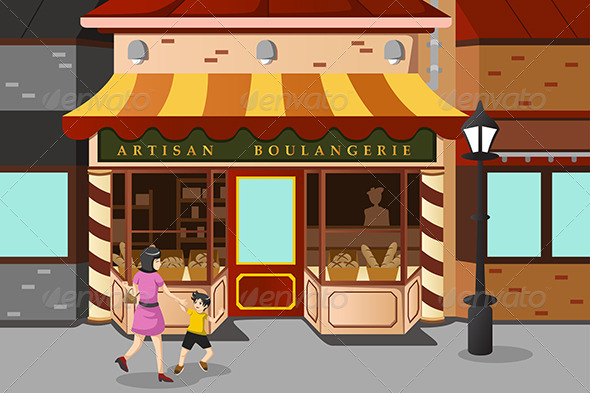 French Bakery Store - Buildings Objects