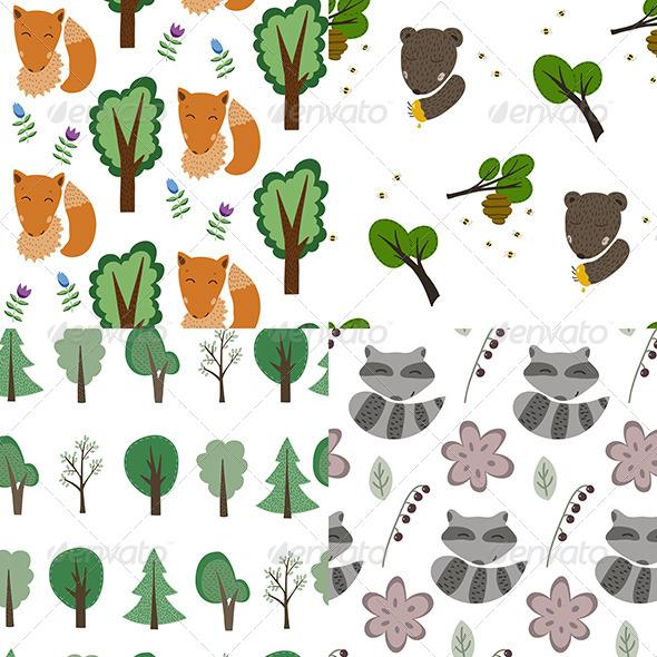 Forest Patterns Set - Patterns Decorative