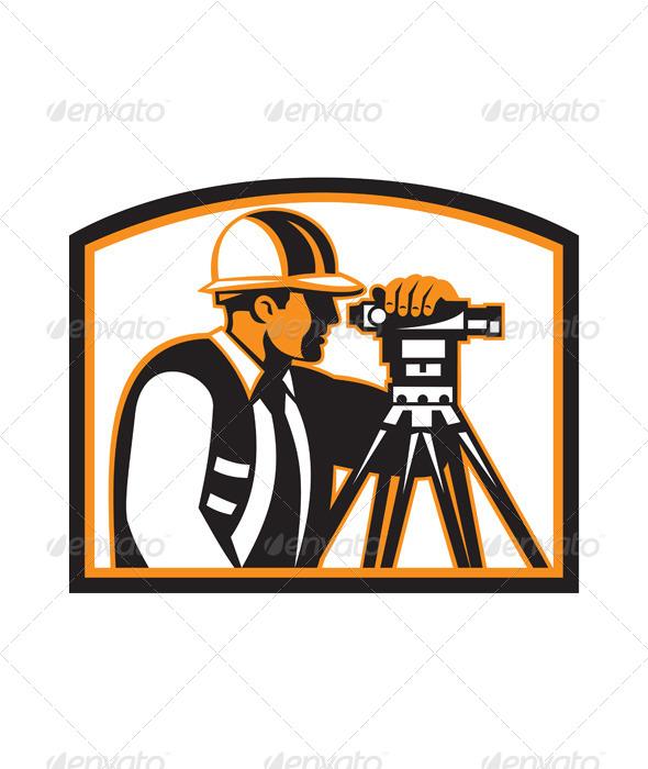 Surveyor Geodetic Engineer Survey Theodolite - People Characters