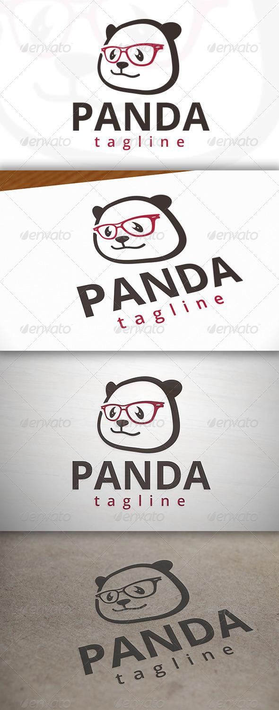 Geek Panda Logo - Animals Logo Templates