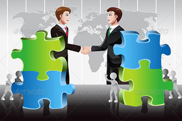 Business Merger Concept - Concepts Business