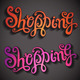 Shopping Hand Lettering Set - GraphicRiver Item for Sale
