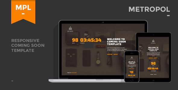 Metropol – Responsive Coming Soon Template