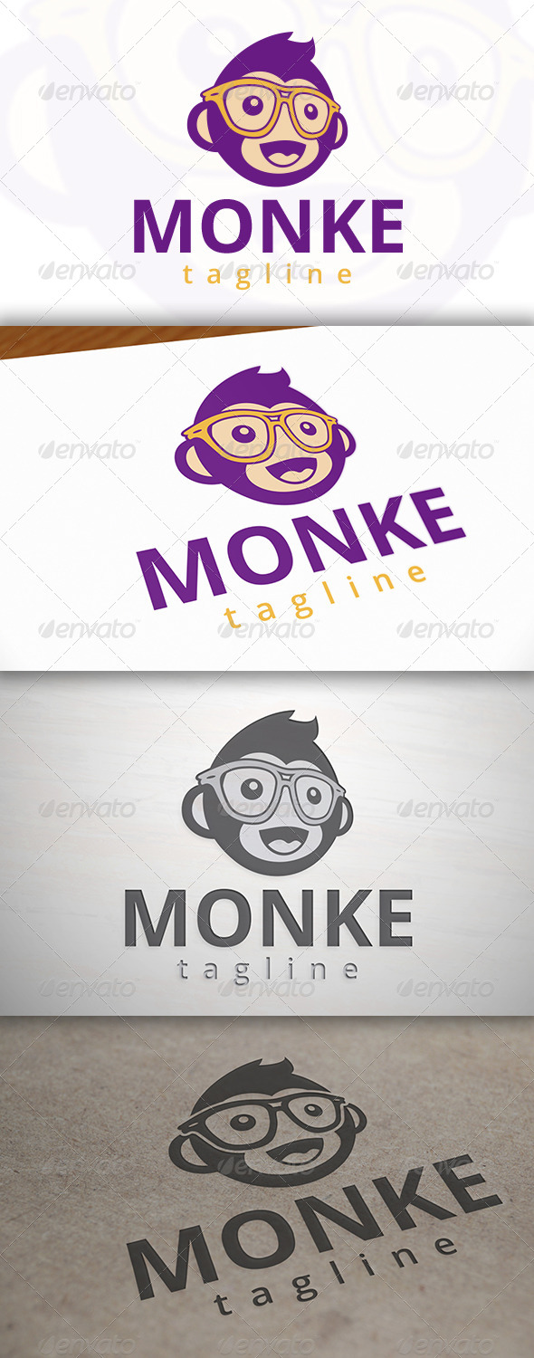 Geek Monkey Logo Template - Animals Logo Templates