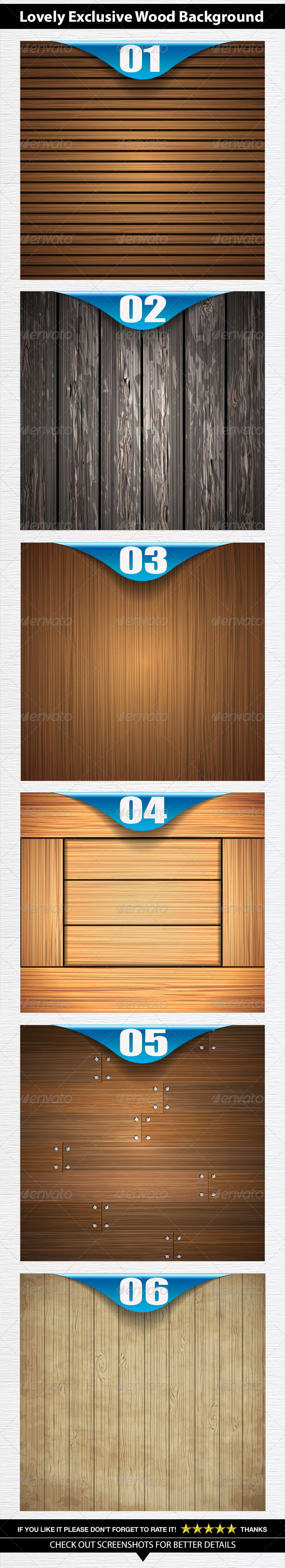 Wooden Background - Vectors