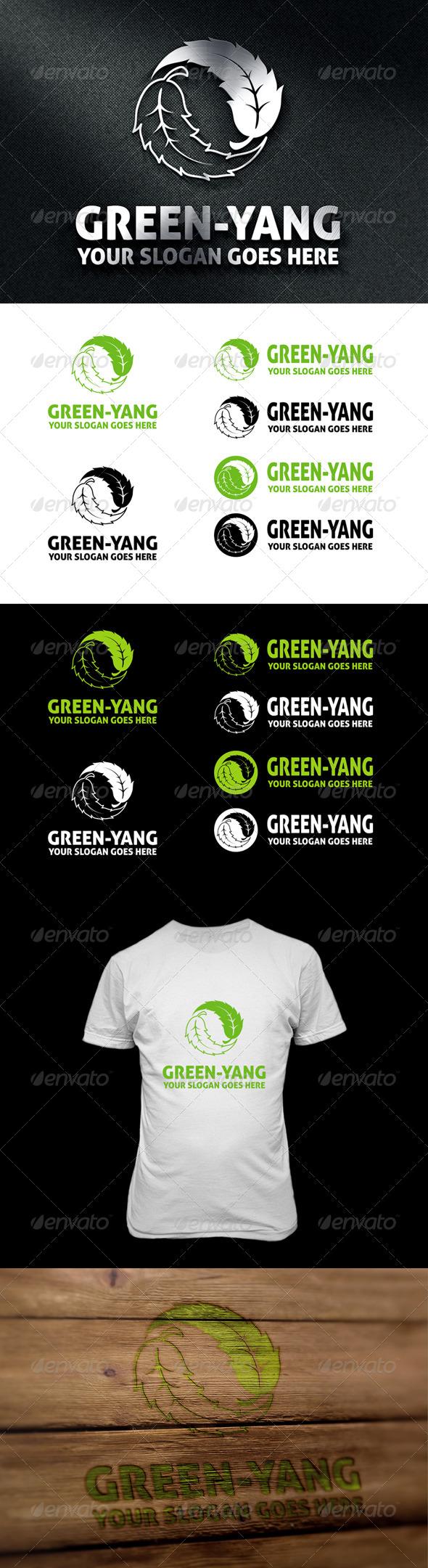 Green-Yang Logo - Symbols Logo Templates