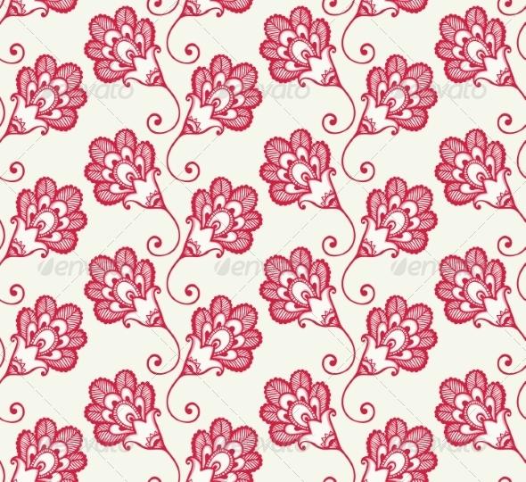 Flower Pattern - Flourishes / Swirls Decorative