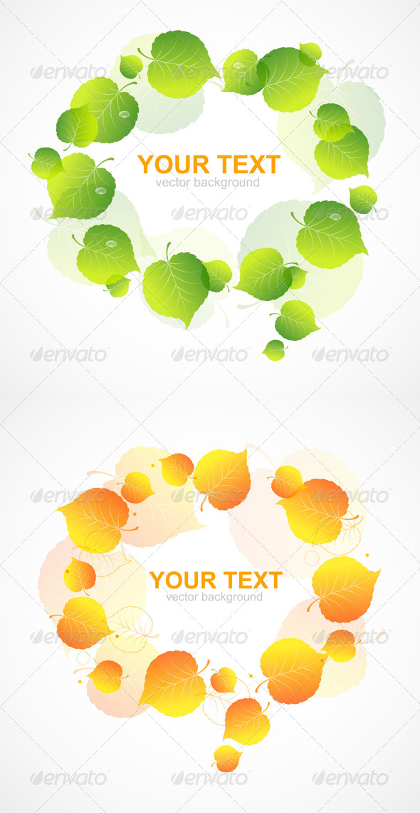 Leaf Frame - Flourishes / Swirls Decorative