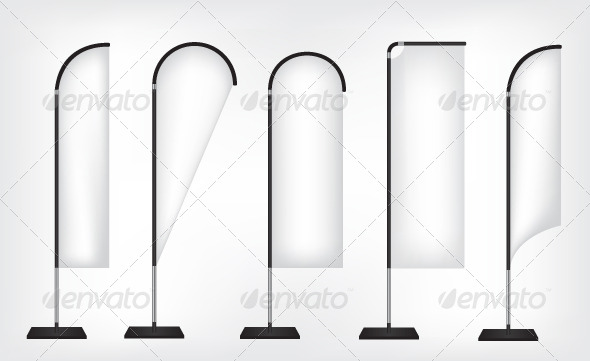 Flag Banner Stand - Objects Vectors