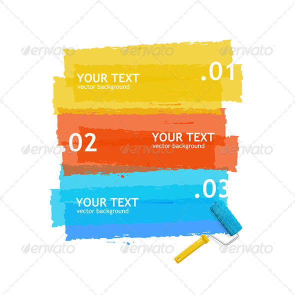 Paint Roller Banner - Backgrounds Decorative