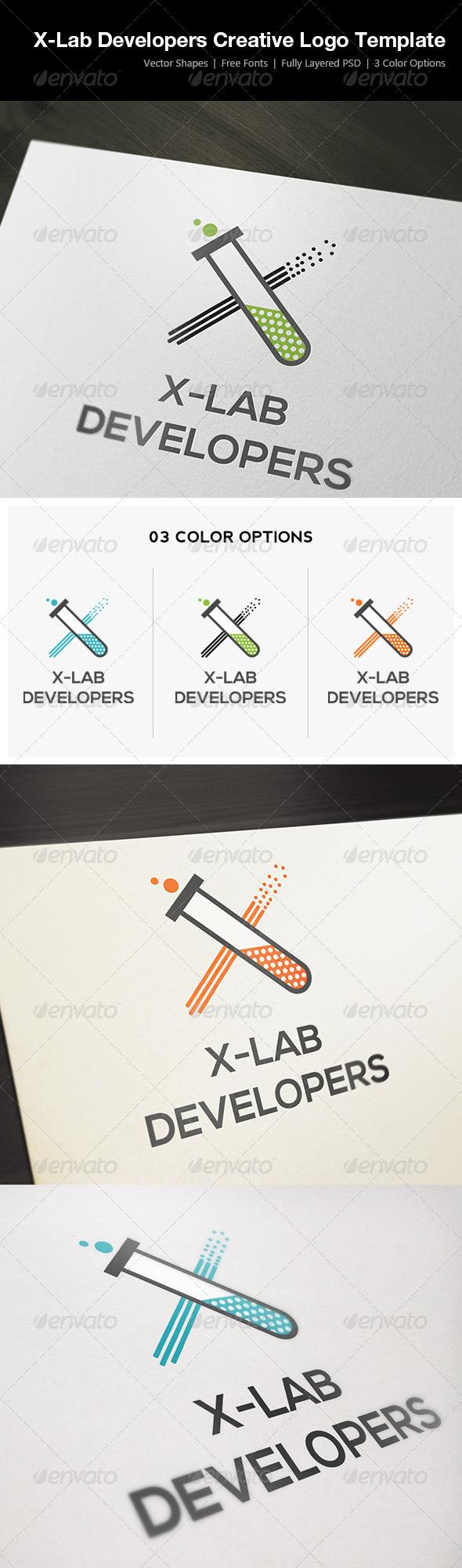 X-Lab Developers Creative Logo Template - Symbols Logo Templates