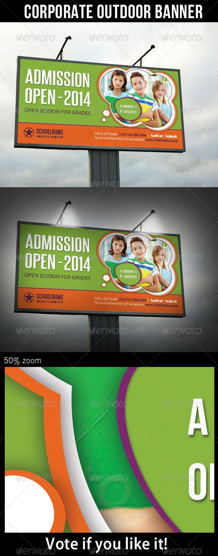Junior School Promotion Outdoor Banner 03 - Signage Print Templates