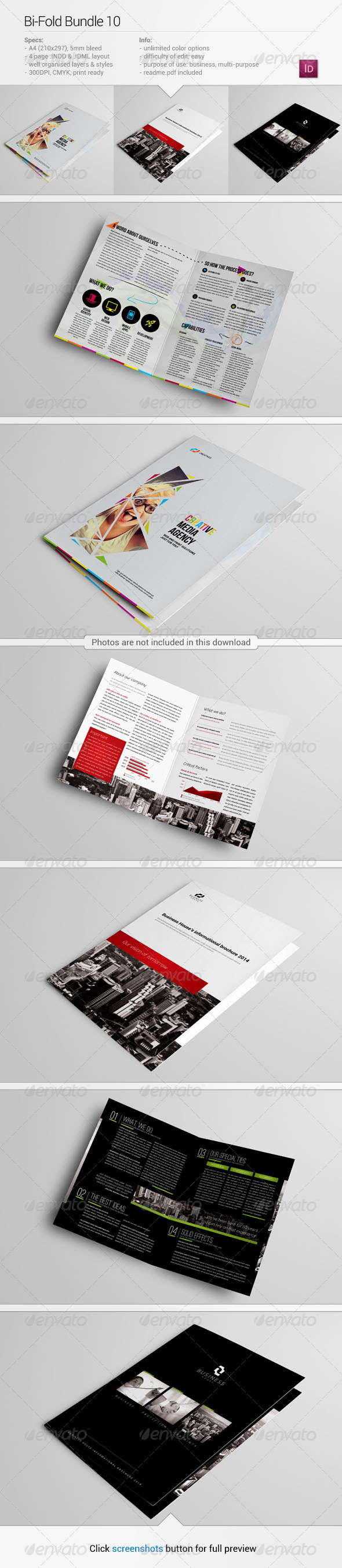 Bi-Fold Bundle 10 - Corporate Brochures