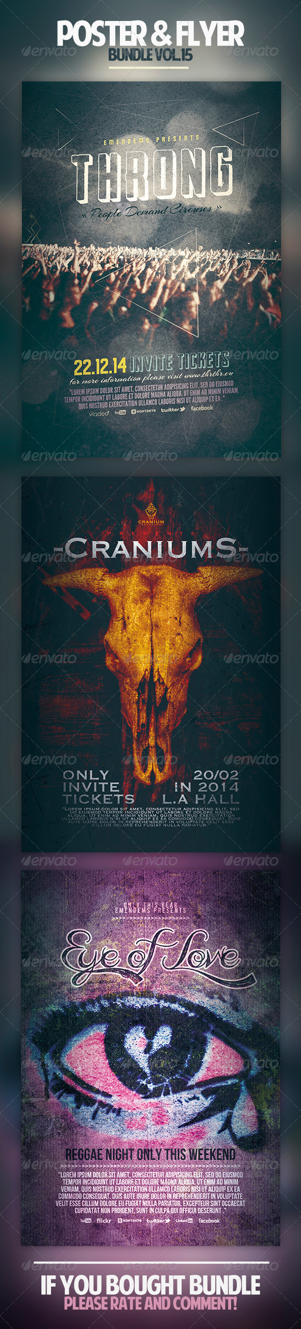 Poster & Flyer Bundle Vol.15 - Concerts Events