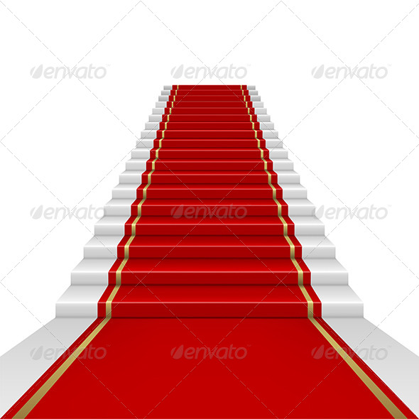 Red Carpet with Ladder - Backgrounds Decorative