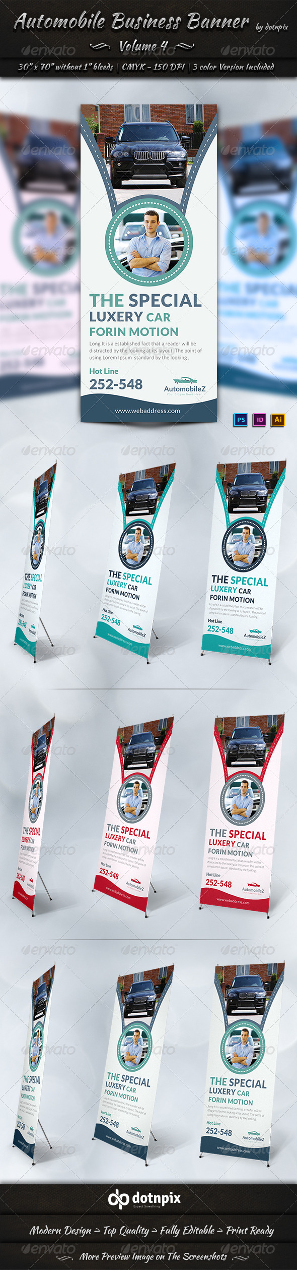 Automobile Business Banner | Volume 4 - Signage Print Templates