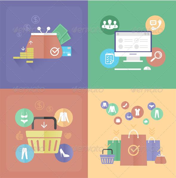 Vector Internet Shopping  - Commercial / Shopping Conceptual