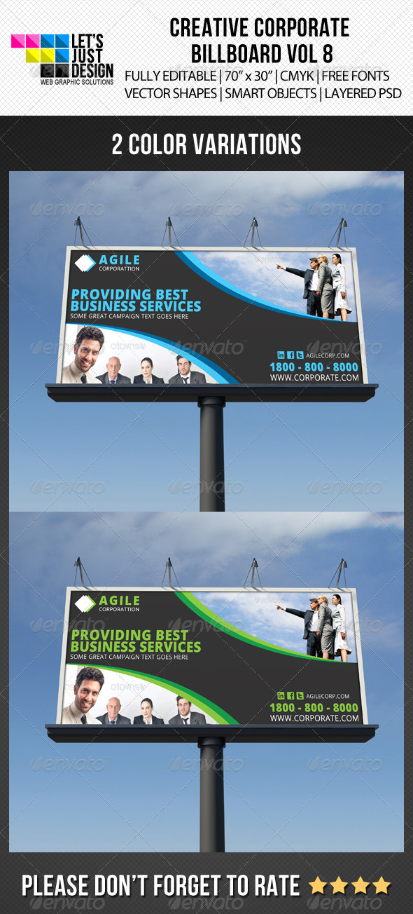 Corporate Billboard Banner Vol 8 - Signage Print Templates