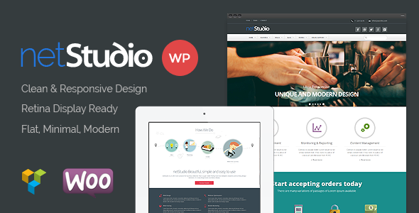 Netstudio - Multipurpose Responsive Theme - Business Corporate