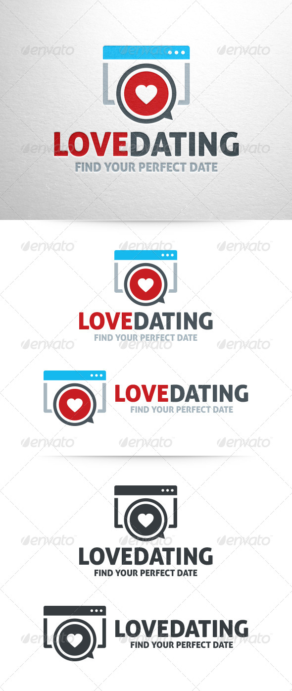 Love Dating logo Template - Symbols Logo Templates