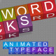 Crossword Blocks / Animated Typeface - VideoHive Item for Sale