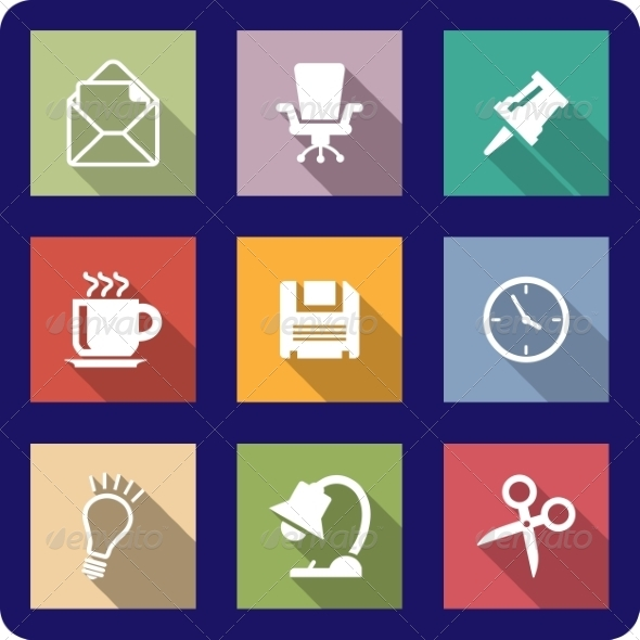 Office Icons  - Web Technology